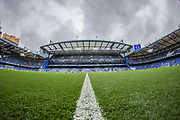 A general view inside Stamford Bridge Stadium prior to the Premier League match between Chelsea and Liverpool at Stamford Bridge, London, England on 22 September 2019.
