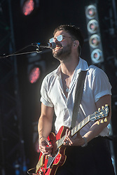 Liam Fray, main singer of The Courteeners on the main stage, Saturday 30th June at TRNSMT 2018.