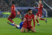Joe Gomez (12) during the Premier League match between Leicester City and Liverpool at the King Power Stadium, Leicester, England on 26 December 2019.