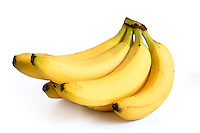 Bananas on white background