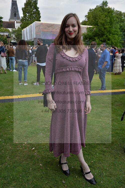 Lou Hayter at the Dulwich Picture Gallery's inaugural Summer Party, Dulwich Picture Gallery, College Road, London England. 13 June 2017.