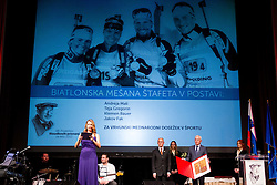 Slovenia Biathlon team at 48th Annual Awards of Stanko Bloudek for sports achievements in Slovenia in year 2012 on February 12, 2013 in Grand Hotel Union, Ljubljana, Slovenia. (Photo By Vid Ponikvar / Sportida)