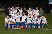 Grove Academy with the 15s Senior Sports Cup after beating St Johns in the  Final at Dens Park<br /> <br /> <br />  - &copy; David Young - www.davidyoungphoto.co.uk - email: davidyoungphoto@gmail.com