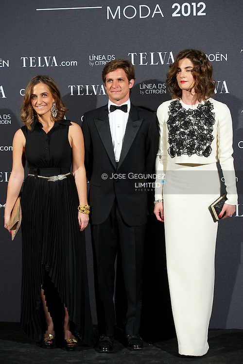 Juian Lopez el Juli and Rosario Domecq attends Telva Awards 2012 at Hotel Palace on November 6, 2012 in Madrid, Spain