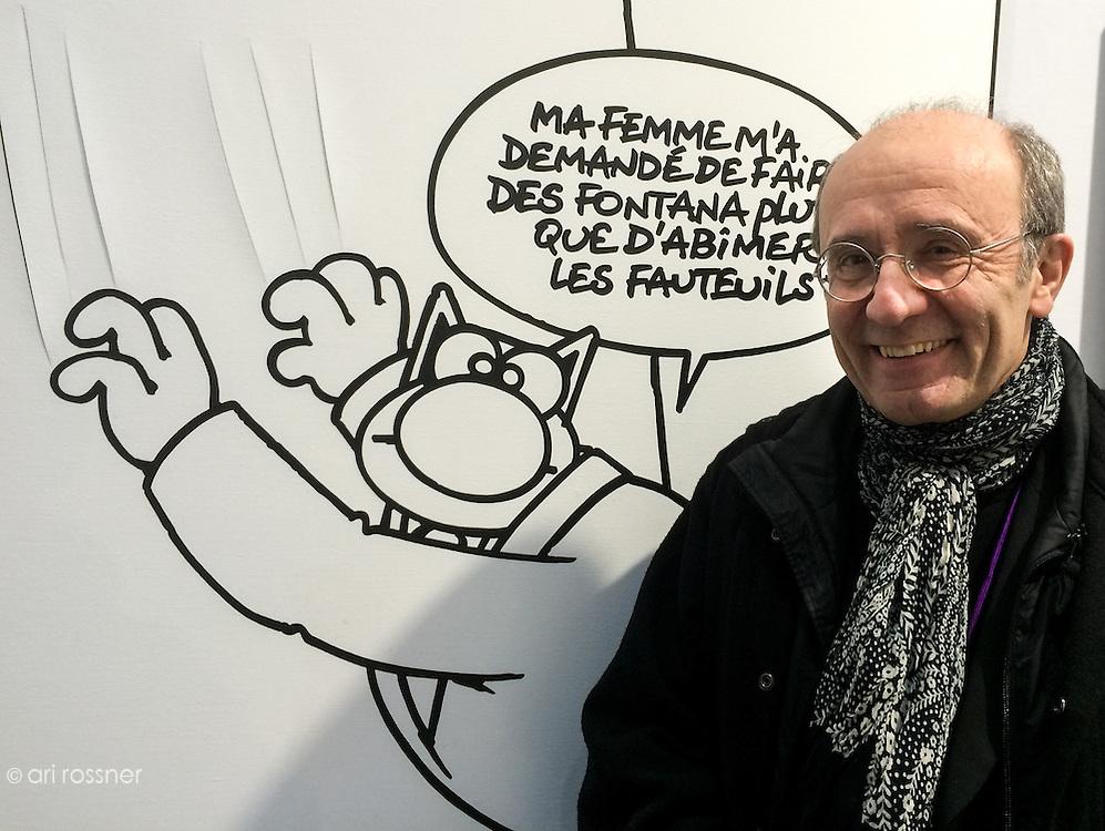 Philippe Geluck, Artist<br /> (&quot;Ma femme m'a demand&eacute; de faire des Fontana plut&ocirc;t que d'abimer les fauteuils&quot;)