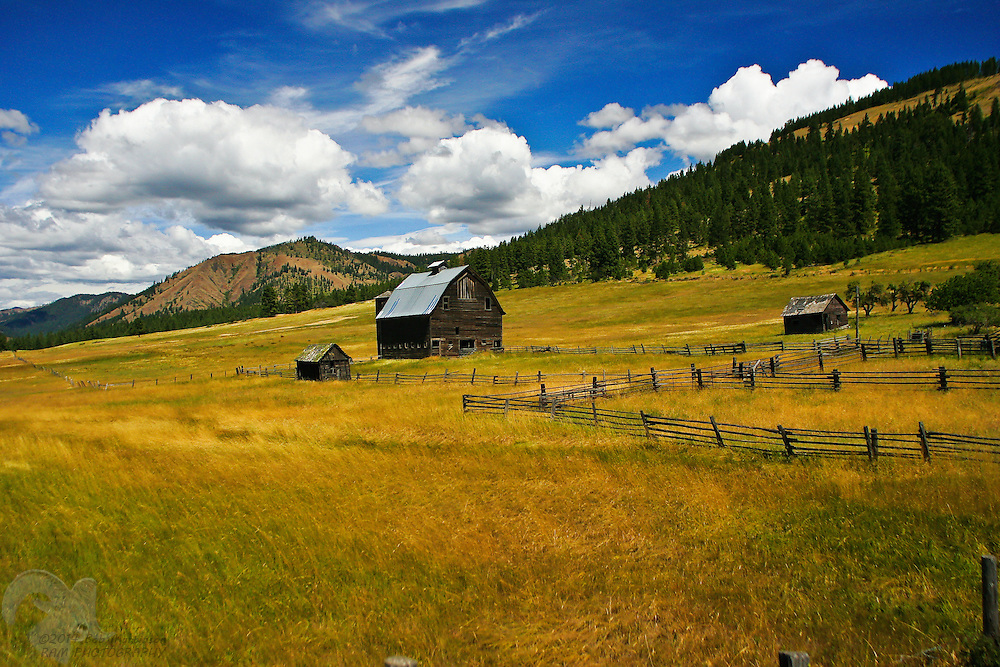 An old barn sits in the middle of Blewett Pass, Washington, between Ellensburg and Cashmere.