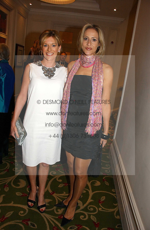 Left to right, News readers ANDREA CATHERWOOD and EMILY MAITLIS at the Costa Book Awards 2006 held at The Grosvenor House Hotel, Park Lane, London W1 on 7th February 2007.<br />