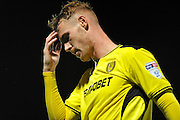 Burton's Tom Naylor (15) reacts after missing a shot during the EFL Sky Bet Championship match between Burton Albion and Queens Park Rangers at the Pirelli Stadium, Burton upon Trent, England on 27 September 2016. Photo by Richard Holmes.