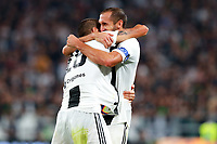 Leonardo Bonucci Juventus celebrates after scoring Esultanza Gol with Giorgio Chiellini Juventus <br /> Torino 29-09-2018 Allianz Stadium Football Calcio Serie A 2018/2019 Juventus - Napoli <br /> Foto Cesare Purini / Insidefoto