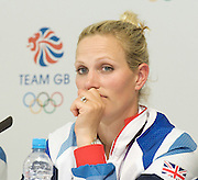 Olympics 2012 <br /> Great Britain's Eventing Team <br /> Silver medal winners' Press Conference <br /> at Team GB House, Stratford, London, Great Britain <br /> 31st July 2012 <br /> Kristina Cook, William Fox-Pitt, Mary King, Zara Phillips, Nicola Wilson<br /> <br /> Photograph by Elliott Franks