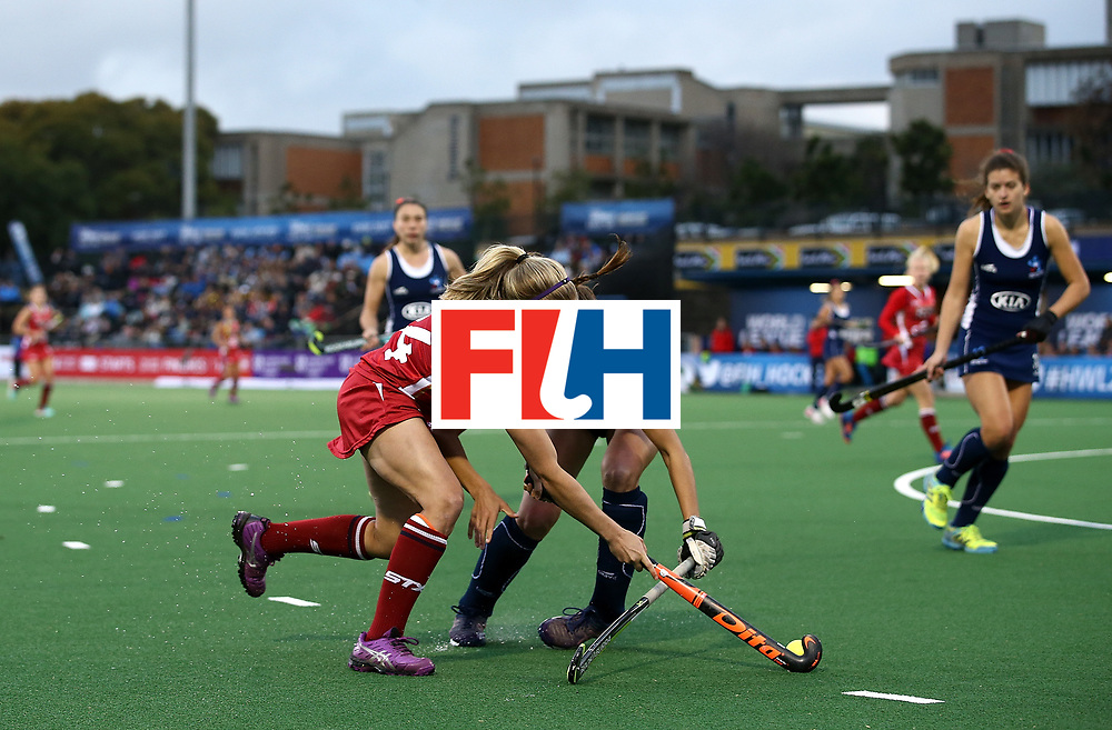 JOHANNESBURG, SOUTH AFRICA - JULY 08:  Kathleen Sharkey of United States of America controls the ball during day 1 of the FIH Hockey World League Semi Finals Pool B match between United States of America and Chile at Wits University on July 8, 2017 in Johannesburg, South Africa.  (Photo by Jan Kruger/Getty Images for FIH)