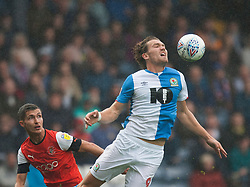 Sam Gallagher of Blackburn Rovers (R) in action - Mandatory by-line: Jack Phillips/JMP - 28/09/2019 - FOOTBALL - Ewood Park - Blackburn, England - Blackburn Rovers v Luton Town - English Football League Championship
