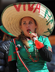 JOHANNESBURG, SOUTH AFRICA - Friday, June 11, 2010: A Mexico supporter during the opening Group A match between South Africa and Mexico during the 2010 FIFA World Cup South Africa at the Soccer City Stadium. (Pic by Hoch Zwei/Propaganda)