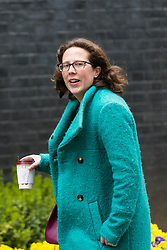 Downing Street, London, March 14th 2017. Lord Privy Seal and Leader of the House of Lords Baroness Natalie Evans  arrives at Downing Street, London, for the weekly meeting of the UK cabinet, following yesterday's vote in Parliament to allow Prime Minister Theresa May to go ahead with triggering Article 50 beginning the Brexit process of withdrawing from the European Union.