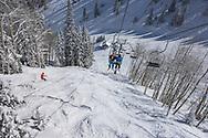 Aspen, Colorado in winter.