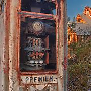 Abandoned Premium Gasoline Pump - Eldorado Canyon - Nelson NV - HDR