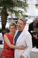 Anne Consigny,  Lambert Wilson, at the Vous N'Avez Encore Rien Vu photocall at the 65th Cannes Film Festival France. Monday 21st May 2012 in Cannes Film Festival, France.