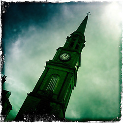 Falkirk Steeple..Hipstamatic images taken on an Apple iPhone..©Michael Schofield.