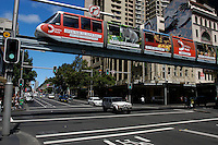 Monorail at George and Pitt, Sydney, Australia.