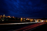 Itapeva_MG, Brasil...Imagem noturna da rodovia em Itapeva...Night image of highway in Itapeva...Foto: LEO DRUMOND / NITRO.....