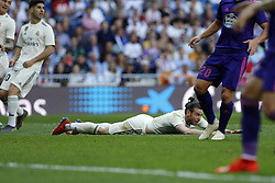 March 16, 2019 - Madrid, Madrid, Spain - Real Madrid CF's Gareth Bale seen reacting during the Spanish La Liga match round 28 between Real Madrid and RC Celta Vigo at the Santiago Bernabeu Stadium in Madrid. (Credit Image: © Manu Reino/SOPA Images via ZUMA Wire)