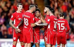 Bristol City celebrate Tammy Abraham's goal - Mandatory by-line: Robbie Stephenson/JMP - 09/08/2016 - FOOTBALL - Adams Park - High Wycombe, England - Wycombe Wanderers v Bristol City - EFL League Cup