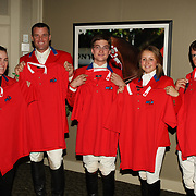 Sponsor photos with 2007 Pan Am Silver Medal Team at the 2007 Royal Agricultural Winter Fair in Toronto, Ontario.