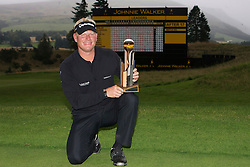 Johnnie Walker Golf Championship 2009 at Gleneagles ..30/08/09...Swede Peter Hedblom Winner of the Johnnie Walker Classic on the 18th, after the FInal Round of the Johnnie Walker Classic Golf Championship..Picture by Mark Davison/ PLPA