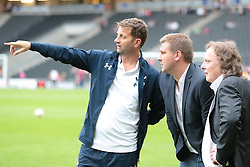 Tottenham XI Manager Tim Sherwood,MK Dons Manager Karl Robinson and MK Dons owner Pete Winkelman  .Photo mandatory by-line: Nigel Pitts-Drake/JMP  - Tel: Mobile:07966 386802 31/07/2013 - MK Dons v  Tottenham XI  - SPORT - FOOTBALL - pre-season - Milton Keynes - Stadium MK