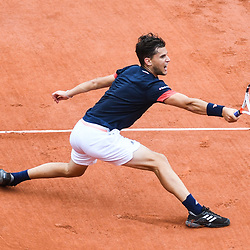 Dominic Thiem of Austria during Day 10 for the French Open 2018 on June 5, 2018 in Paris, France. (Photo by Anthony Dibon/Icon Sport)