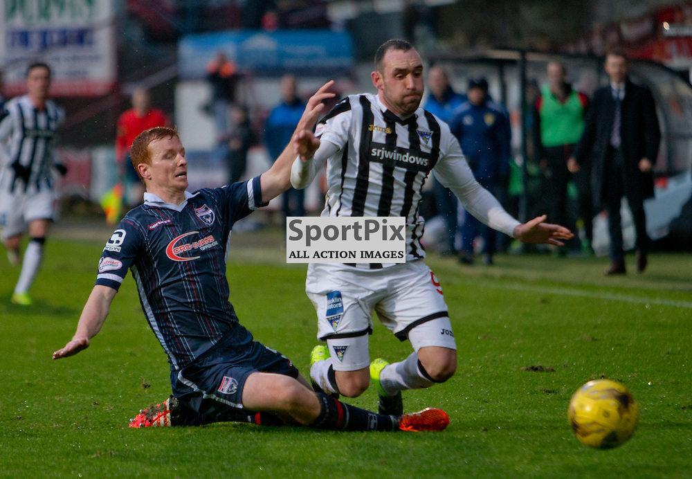 Dunfermline Athletic v Ross County Scottish Cup Season 2015/16 East End Park 09 December 2015<br /> Scott Boyd fouls michael moffat<br /> CRAIG BROWN | sportPix.org.uk