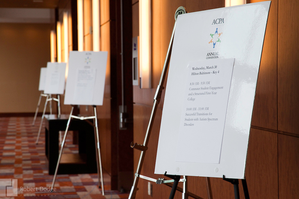The American College Personnel Association held its 2011 convention in Baltimore. The association, headquartered in Washington, D.C., is the nation's leading comprehensive student affairs association that advances student affairs and engages students for a lifetime of learning and discovery.