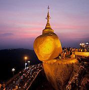 Kyaiktiyo Pagoda. The Golden Rock. Myanmar