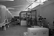 24/05/1966<br /> 05/24/1966<br /> 24 May 1966<br /> Grants of Ireland Ltd. wine bottling plant at Chapelizod, Dublin. View of some machinery, storage tanks, labelling and boxing of the wine.
