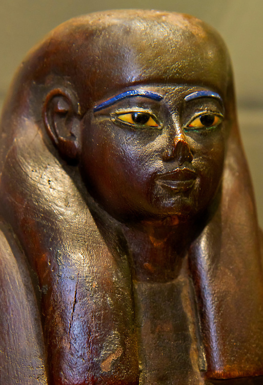Tiny wooden statue from Ancient Egypt. Brooklyn Museum.