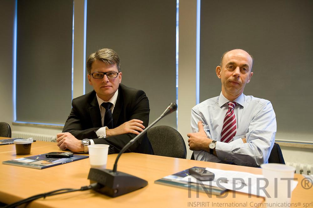 BRUSSELS - BELGIUM - 12 NOVEMBER 2008 --  Steen Reeslev, Director for Communication at A.P. Møller - Mærsk (A.P. Moeller - Maersk) and Vice President Jens Søndergaard, J. Lauritzen. Photo: Erik Luntang.