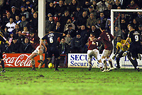Photo: Dave Linney.<br />Walsall v Bristol Rovers. Coca Cola League 2. 30/12/2006. Bristol Rovers  Steve Elliott(6) beats Ian Roper to the ball o make the score level a 2-2.