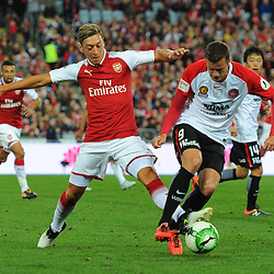 Mesut Özil of Arsenal has a shot during Western Sydney Wanderers vs Arsenal, Preseason Friendly , 15.07.17 (c) Harriet Lander | SportPix.org.uk