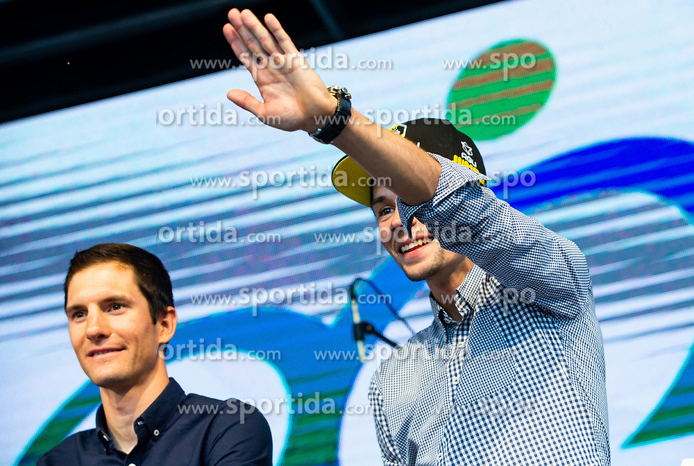 Jan Polanc and Primoz Roglic during reception of best Slovenian riders after Giro d'Italia 2019 and Tour of California 2019, on June 3rd, 2019, in Mestni trg, Ljubljana, Slovenia. Photo by Vid Ponikvar / Sportida