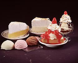 key lime pie lemon meringue vanilla ice cream chocolate strawberry sundae cherry whipped topping