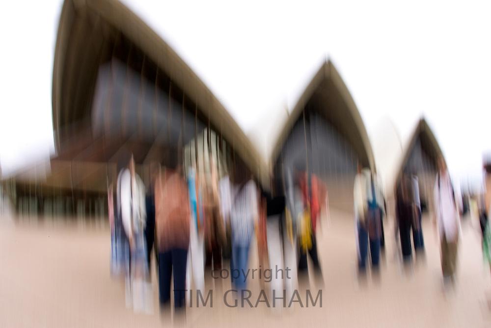 Tourists at Sydney Opera House, Australia