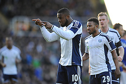 West Bromwich Albion's Victor Anichebe celebrates his goal. - Photo mandatory by-line: Dougie Allward/JMP - Mobile: 07966 386802 - 24/01/2015 - SPORT - Football - Birmingham - ST Andrew's Stadium - Birmingham City v West Bromwich Albion - FA Cup Forth Round