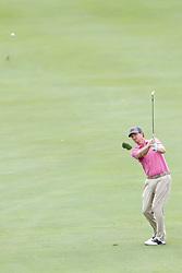 June 22, 2018 - Madison, WI, U.S. - MADISON, WI - JUNE 22: Tim Petrovic hits his third shot on the ninth hole during the American Family Insurance Championship Champions Tour golf tournament on June 22, 2018 at University Ridge Golf Course in Madison, WI. (Photo by Lawrence Iles/Icon Sportswire) (Credit Image: © Lawrence Iles/Icon SMI via ZUMA Press)