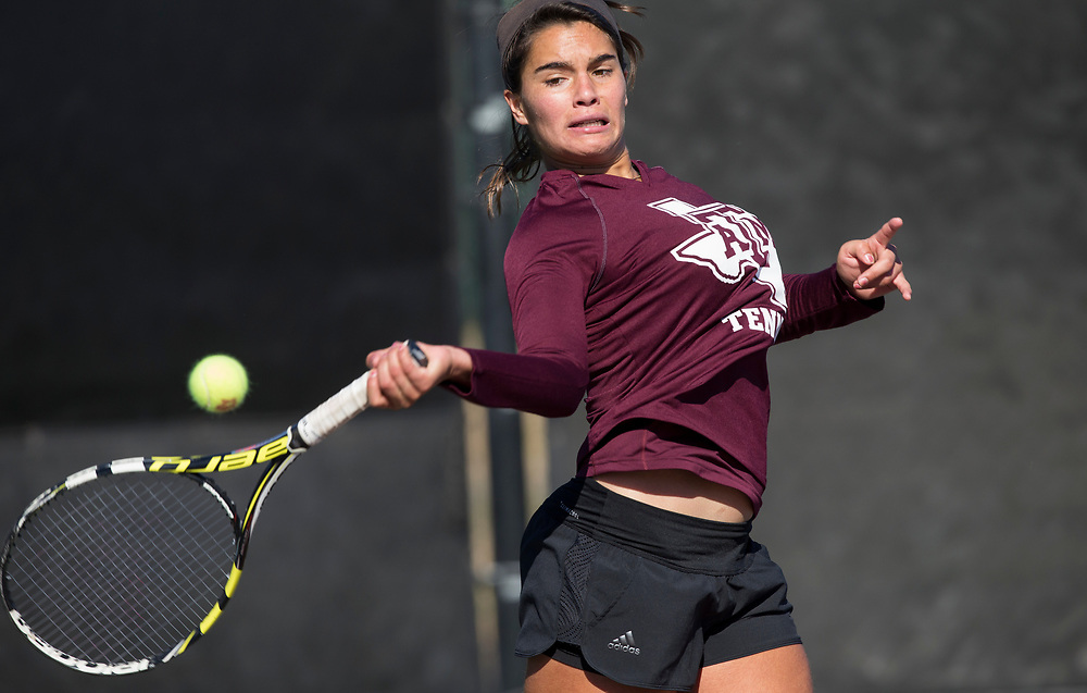 UTRGV vs. Texas A&M in a NCAA women's tennis match Jan. 13, 2018, in College Station, Texas.