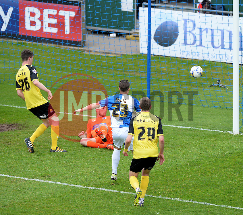 Billy Bodin of Bristol Rovers scores. - Mandatory by-line: Alex James/JMP - 07/05/2016 - FOOTBALL - Memorial Stadium - Bristol, England - Bristol Rovers  v Dagenham Redbridge  - Sky Bet League Two