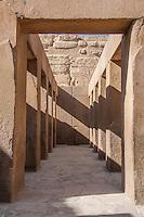 Corridor of the Sphinx temple, Giza, Egypt.