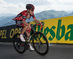 06.07.2017, Kitzbühel, AUT, Ö-Tour, Österreich Radrundfahrt 2017, 4. Etappe von Salzburg auf das Kitzbüheler Horn (82,7 km/BAK), im Bild Hermann Pernsteiner (AUT, Team Amplatz - BMC) // Hermann Pernsteiner of Austria (Team Amplatz - BMC) during the 4th stage from Salzburg to the Kitzbueheler Horn (82,7 km/BAK) of 2017 Tour of Austria. Kitzbühel, Austria on 2017/07/06. EXPA Pictures © 2017, PhotoCredit: EXPA/ Reinhard Eisenbauer