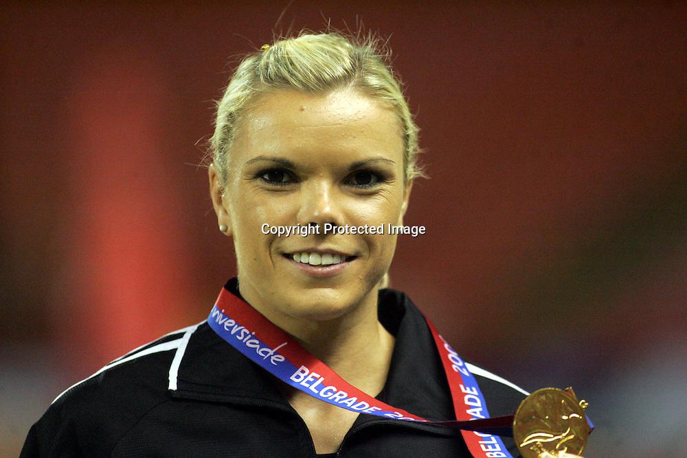 10.07.2009 Belgrade(Serbia)<br />Universiade woman's  200m <br />Willams Monique New Zeland gold<br />Foto:Aleksandar Djorovic