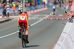 OYARBIDE JIMENEZ Lourdes from SPAIN during Women Elite Time Trial at 2019 UEC European Road Championships, Alkmaar, The Netherlands, 8 August 2019. <br /> <br /> Photo by Pim Nijland / PelotonPhotos.com <br /> <br /> All photos usage must carry mandatory copyright credit (Peloton Photos | Pim Nijland)