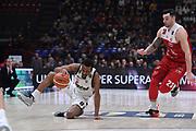 Kevin Punter<br /> AX Armani Exchange Olimpia Milano - Segafredo Virtus Bologna<br /> Legabasket Serie A 2018/2019<br /> Milano, 27/01/2019<br /> Foto M.Ceretti / Ciamillo-Castoria